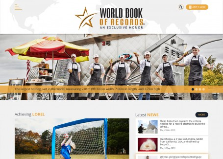 World Book Of Records - Web Development